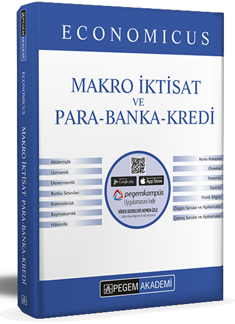 Pegem 2021 KPSS A Grubu Economicus Makro İktisat ve Para-Banka-Kredi Konu Anlatımı