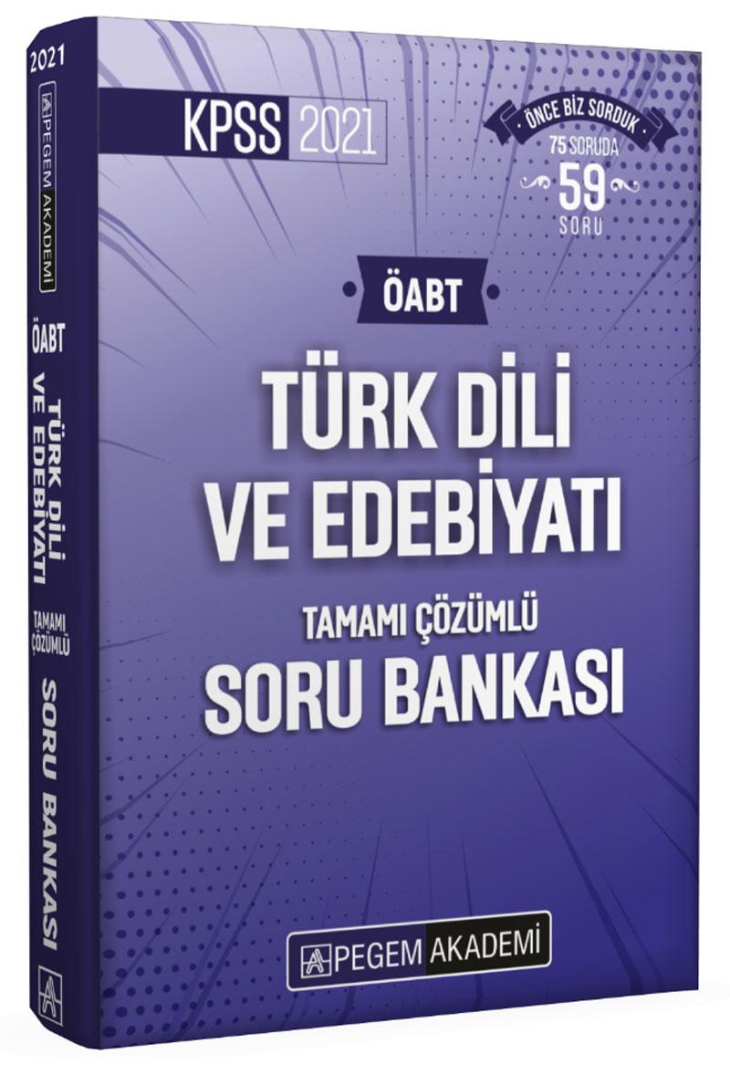 Pegem 2021 KPSS ÖABT Türk Dili ve Edebiyatı Tamamı Çözümlü Soru Bankası