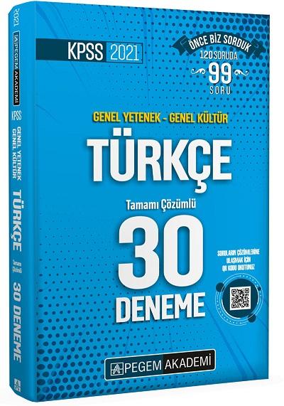 Pegem 2021 KPSS GY-GK Türkçe 30 Deneme