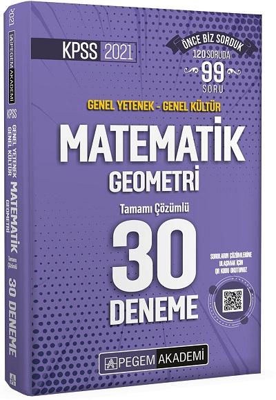 Pegem 2021 KPSS GY-GK Matematik-Geometri 30 Deneme