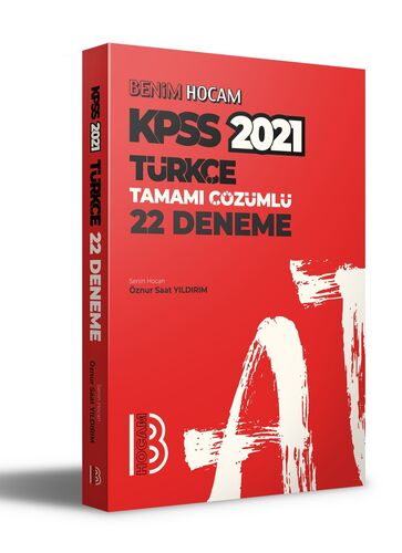 Benim Hocam Yayınları 2021 KPSS Türkçe Tamamı Çözümlü 22 Deneme