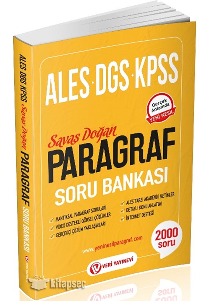 KPSS ALES DGS Paragraf Soru Bankası Veri Yayınevi