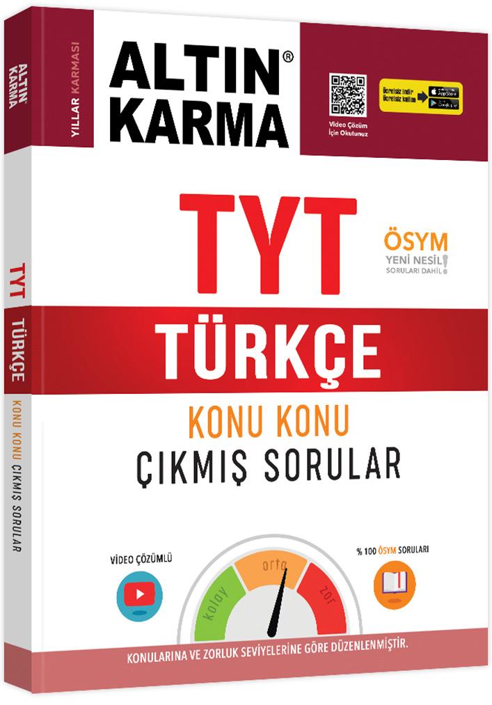 Altın Karma 2021 TYT Türkçe Konu Konu Çıkmış Sorular (Kolay-Orta-Zor)