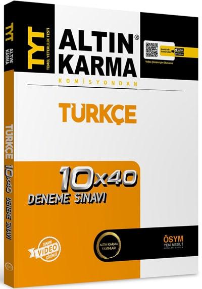 TYT Türkçe Tamamı Video Çözümlü 10x40 Deneme Sınavı Altın Karma