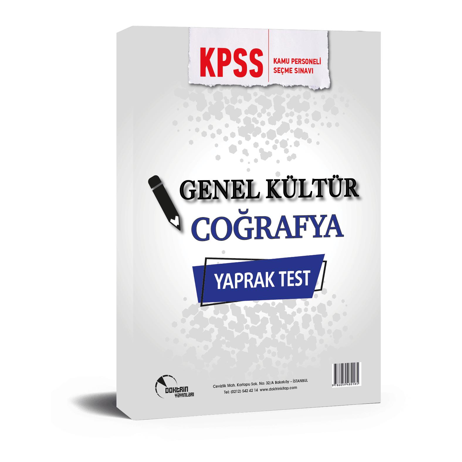 2020 KPSS Coğrafya Yaprak Test