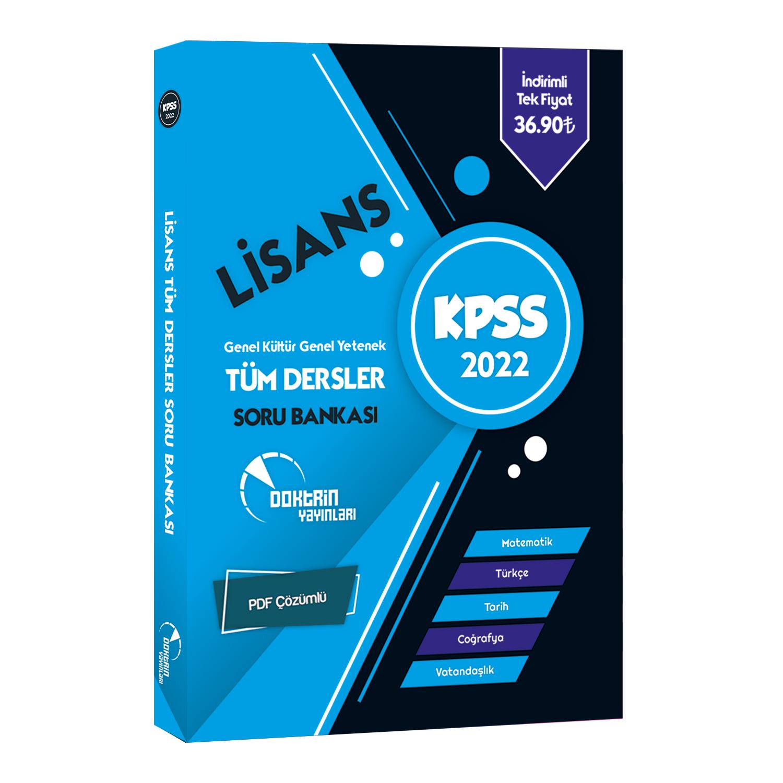 2022 KPSS Lisans Tüm Dersler Soru Bankası