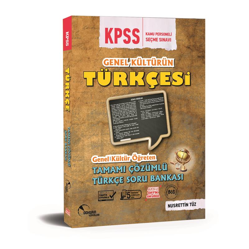KPSS Genel Kültürün Türkçesi Soru Bankası