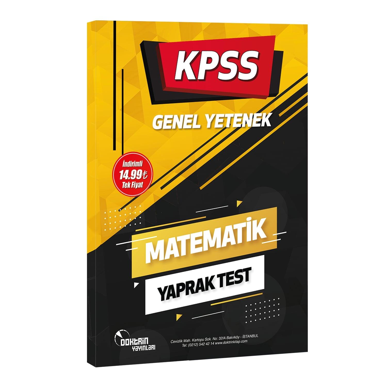 2022 KPSS Matematik Yaprak Test