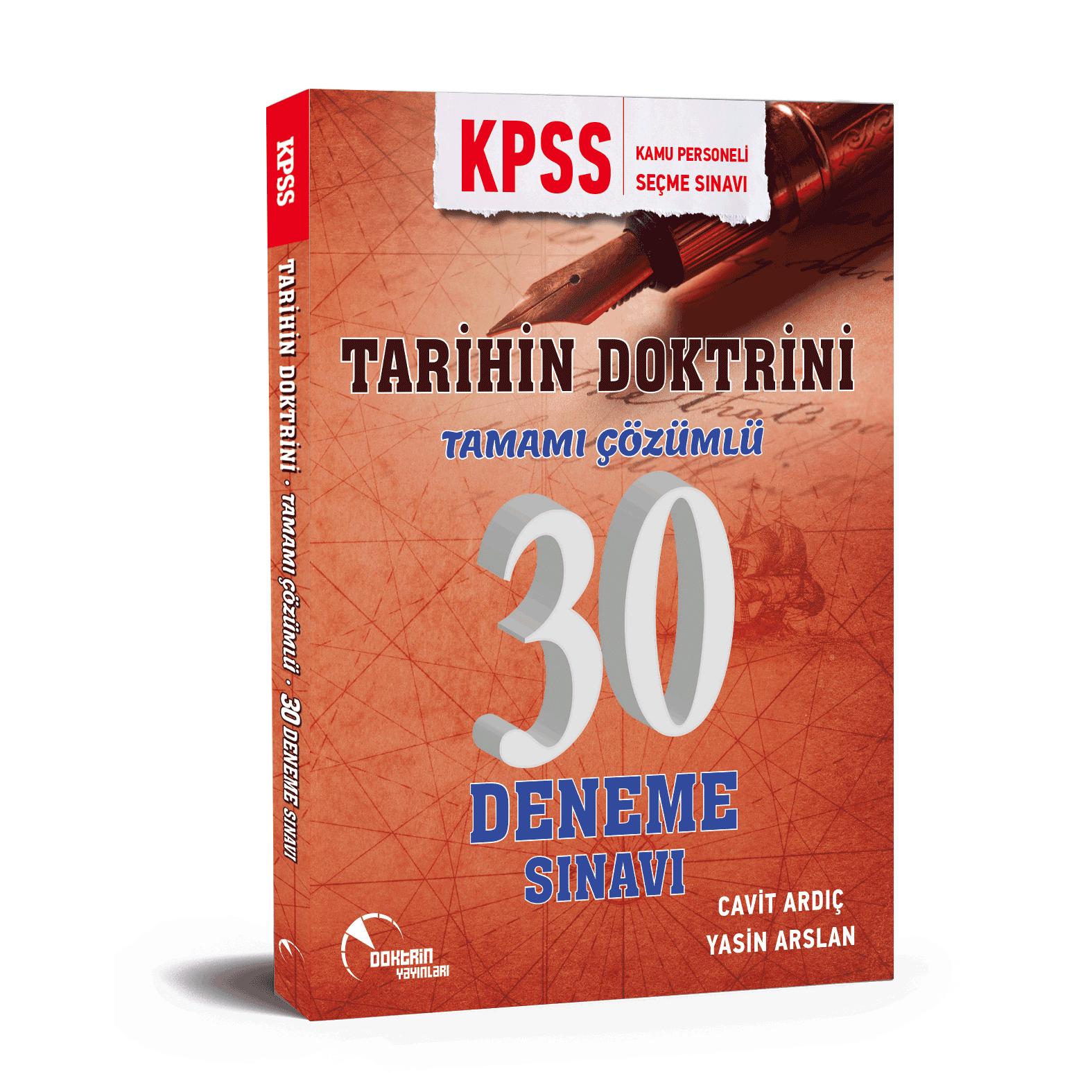 2020 KPSS Tarih 30 Adet Tamamı Çözümlü Deneme Sınavı