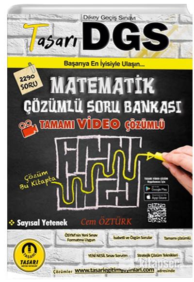 2021 DGS Matematik Video Çözümlü Soru Bankası Tasarı Eğitim Yayınları