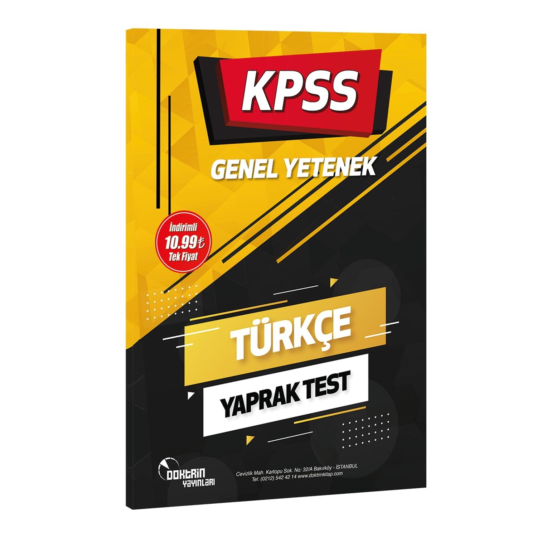 2022 KPSS Türkçe Yaprak Test