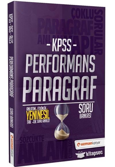 2021 KPSS Paragraf Performans Soru Bankası Uzman Kariyer Yayınları