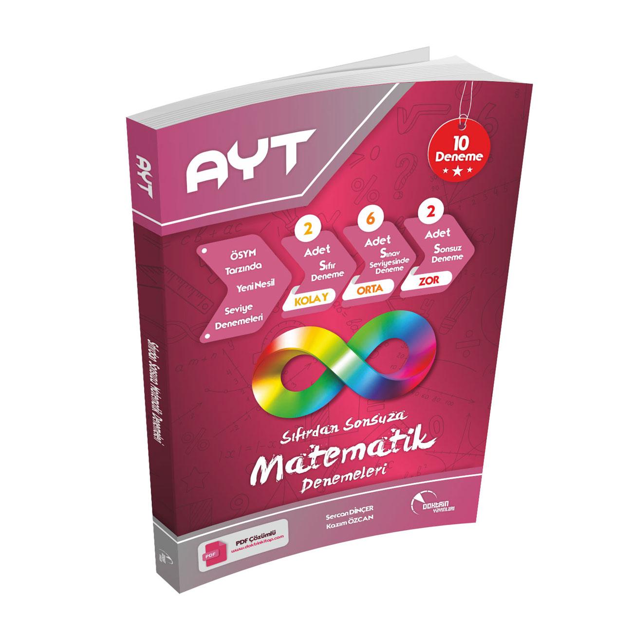 AYT Matematik PDF Çözümlü 10 lu Deneme Sınavı
