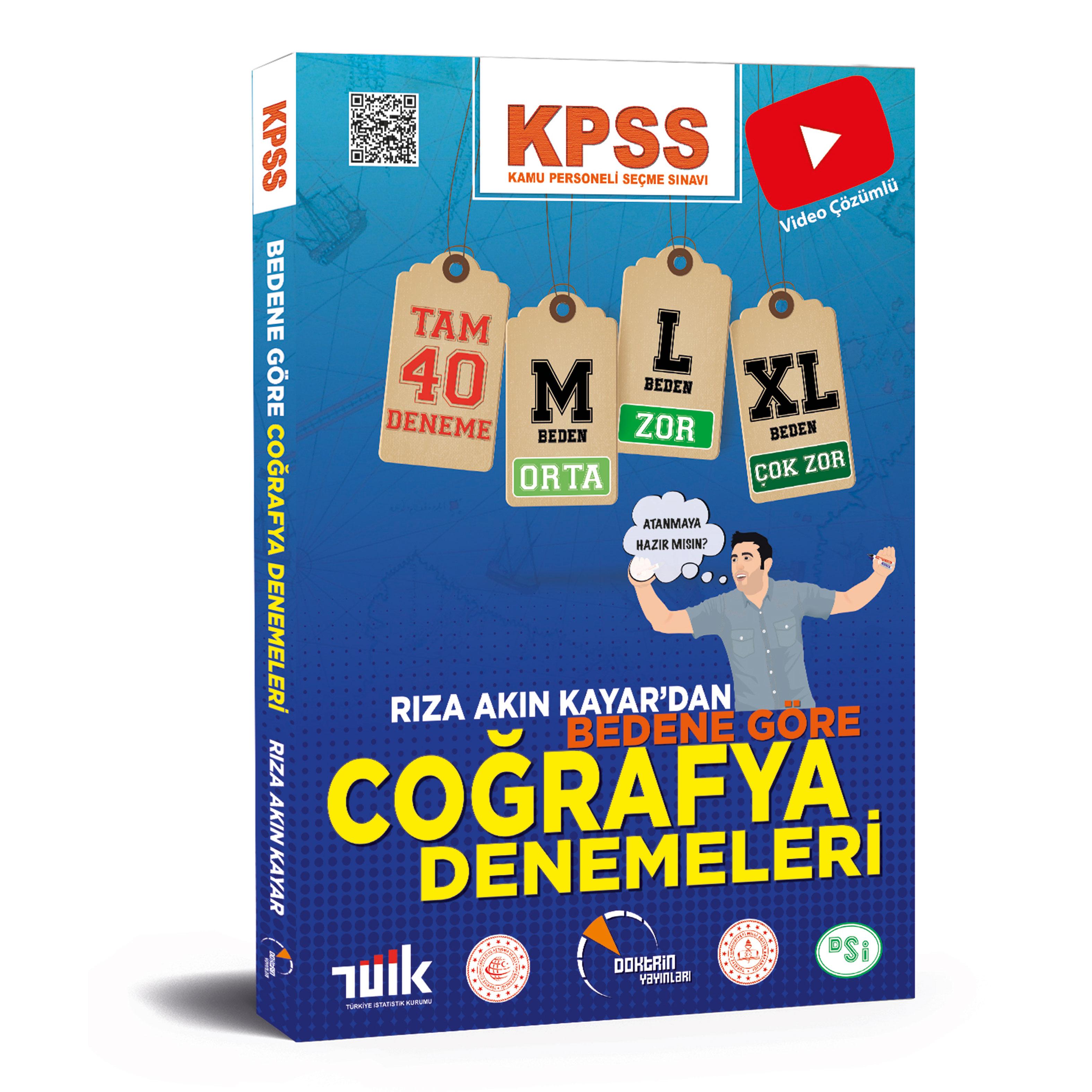 2021 KPSS Coğrafya Bedene Göre 40 Adet Çözümlü Deneme Sınavı