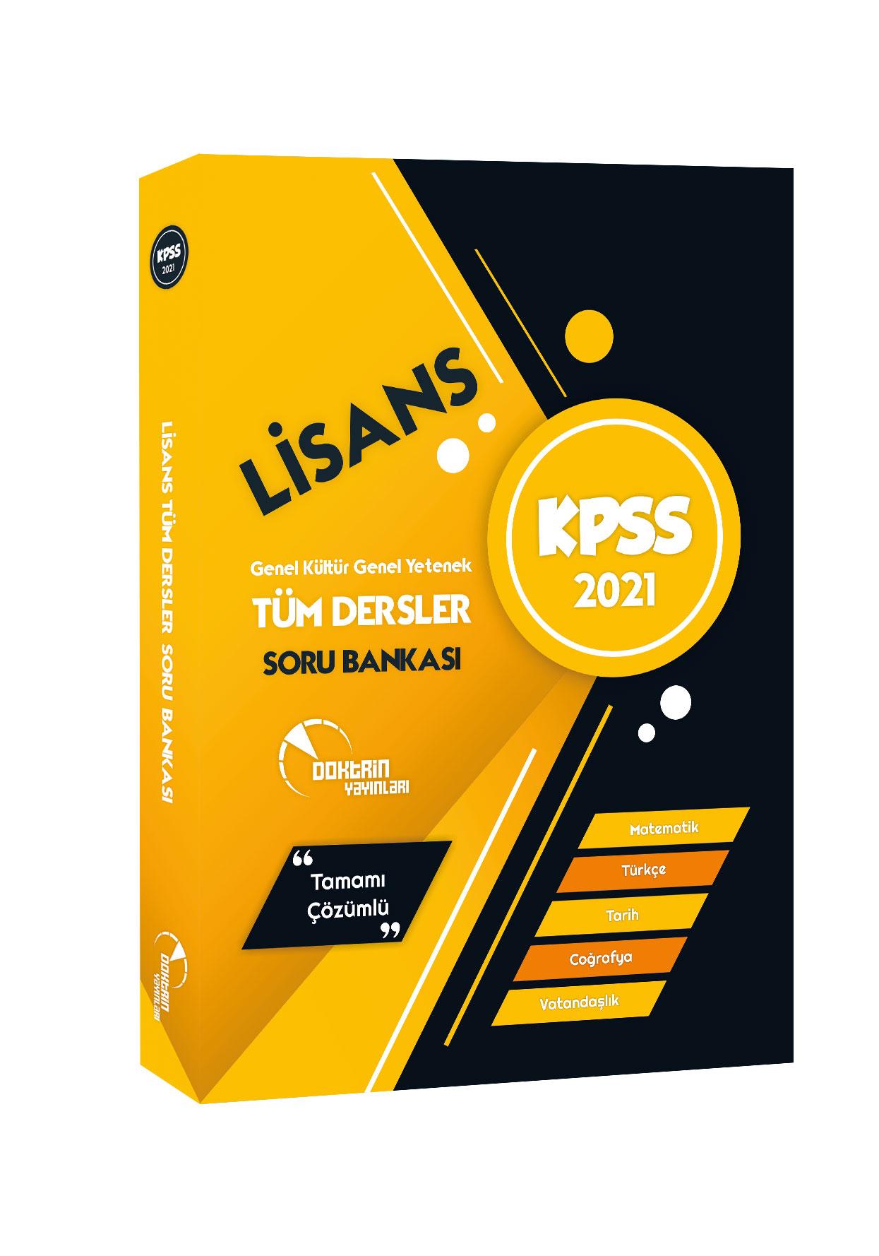 2021 KPSS Lisans Tüm Dersler Tamamı Çözümlü Soru Bankası