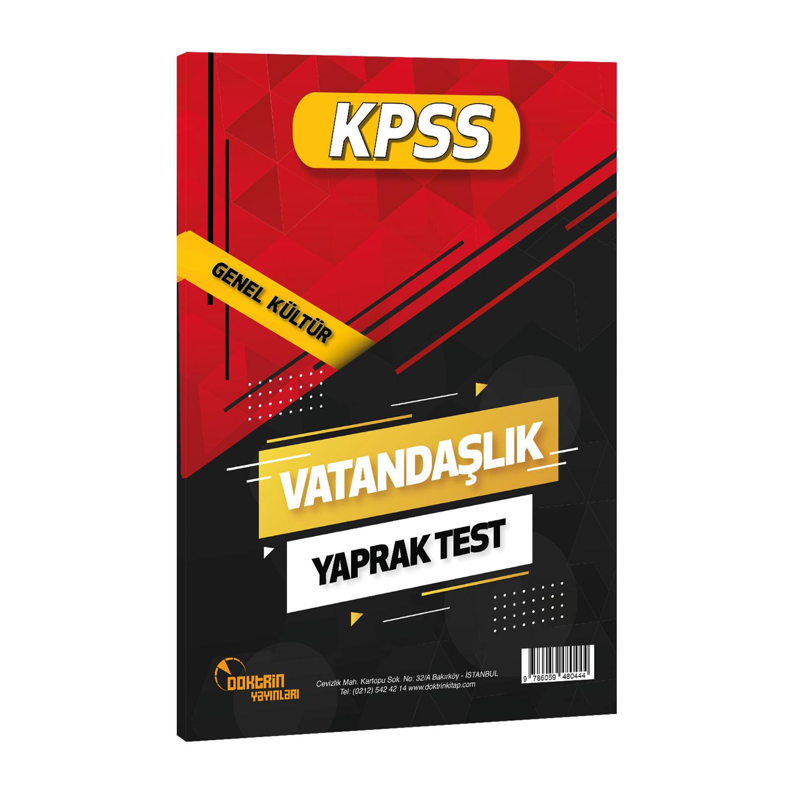 2021 KPSS Vatandaşlık Yaprak Test